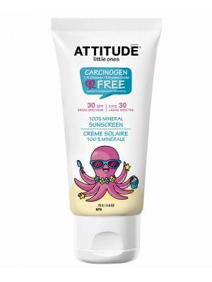 ATTITUDE Baby Sunscreen 75gr - 100% Mineral SPF 30