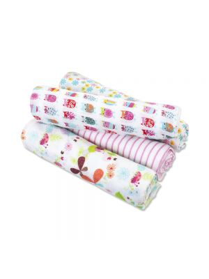 Aden + Anais Muslin Swaddle Wrap by Zutano 4 Pack - Owls