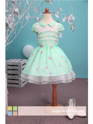 Bonny Billy Girl Dress - Green Floral