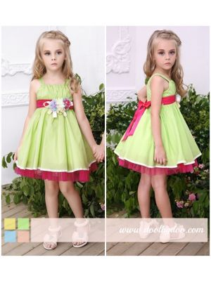 Bonny Billy Girl Dress - Green Sleeveless