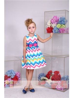 Bonny Billy Girl Dress - Multicolour Chevron