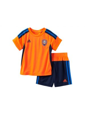 Adidas Striker Soccer Tee & Shorts Set - Solar Red