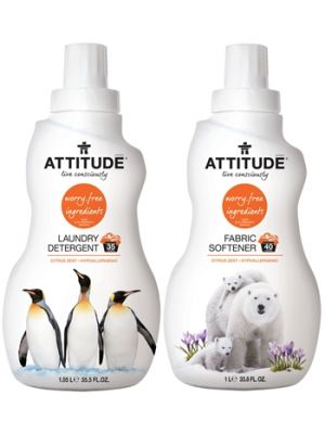 ATTITUDE Detergent & Fabric Softener (Citrus Zest) - Bundle