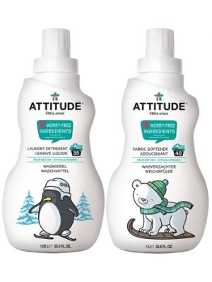 ATTITUDE Baby Detergent & Fabric Softener (Pear Nectar) - Bundle