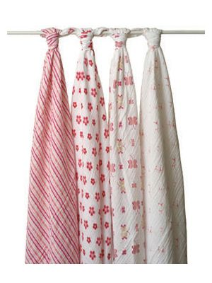 Aden + Anais Swaddle Classic 4 Pack - Princess Posie