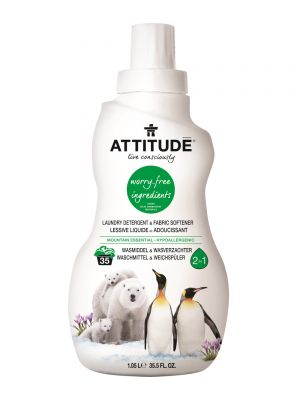 ATTITUDE 2 in 1 Detergent & Softener 1.05L - Mountain Essential