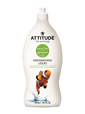 ATTITUDE Dishwashing Liquid 700ml - Green Apple & Basil