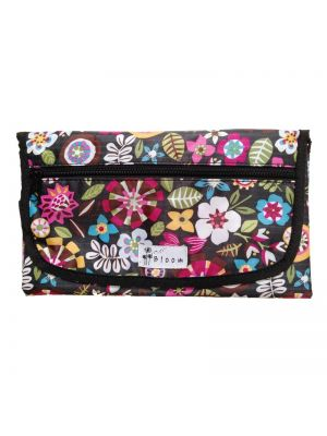 Bloom Diaper Changing Mat - Fleur Black
