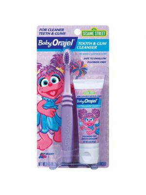 Baby Orajel® Tooth & Gum Cleanser with Toothbrush - Abby