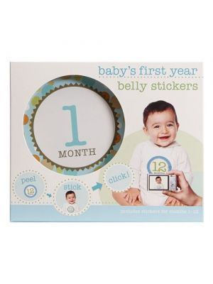 Stepping Stones Baby's First Year Belly Stickers | Blue