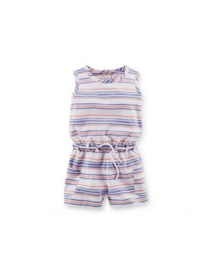 Carter's Striped Romper - White
