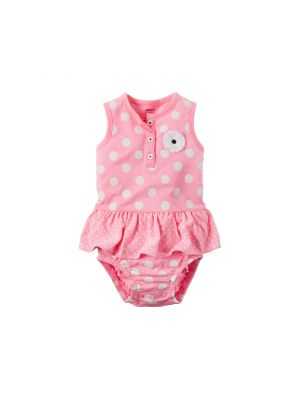 Baby Girl Carter's Polka-Dot Bodysuit (Pink)