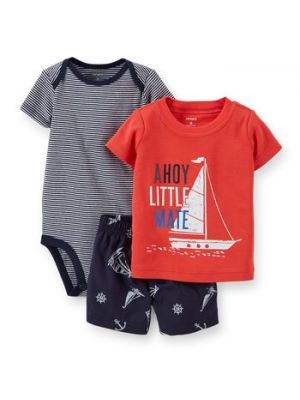 Carter's 3-Piece Bodysuit & Short Set - Ahoy