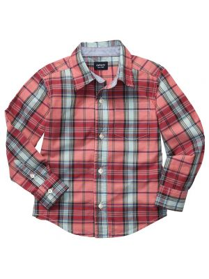 Carter's Plaid Woven Shirt - Red