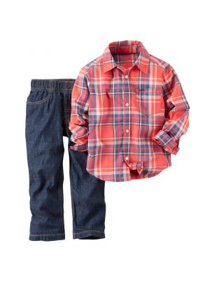 Carter's 2-Piece Shirt & Pant Set - Red