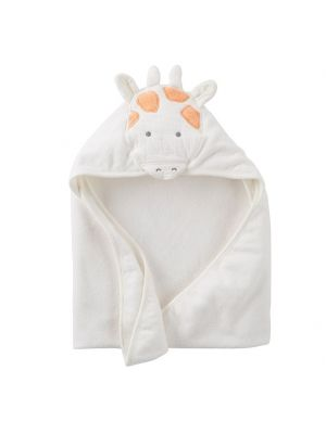 Carter's Ivory Hooded Towel - Giraffe