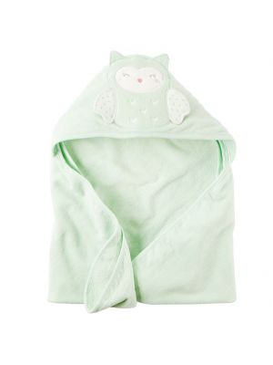 Carter's Mint Hooded Towel - Owl