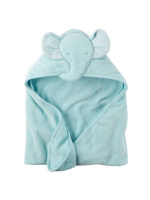 Carter's Blue Hooded Towel - Elephant