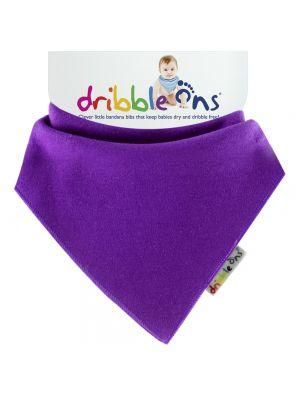 Dribble Ons Baby Bandana Bibs - Baby Purple