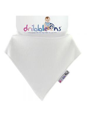 Dribble Ons Baby Bandana Bibs - White
