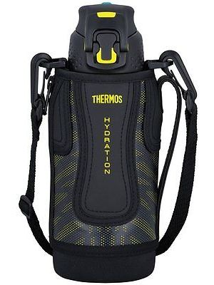 Thermos Sports Bottle w/ Bag 0.8L - Black Yellow | FFZ-801F-BKY