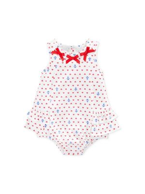 First Impressions Baby Girls' Anchor Sunsuit