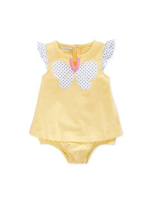 First Impressions Baby Girls' Butterfly Sunsuit