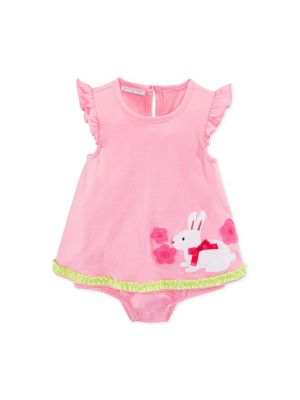 First Impressions Baby Girls' Bunny Sunsuit