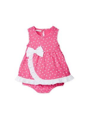 First Impressions Baby Girls' Ditsy Sunsuit - Pink