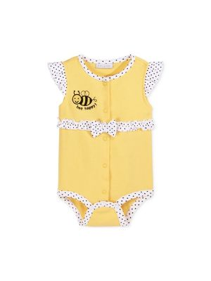 First Impressions Baby Girls' Bee Happy French Creeper