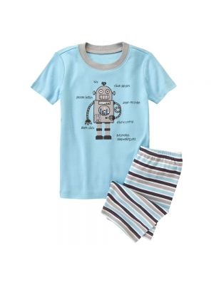 Gymboree Sleepy Robot Shortie Two-Piece Gymmies®