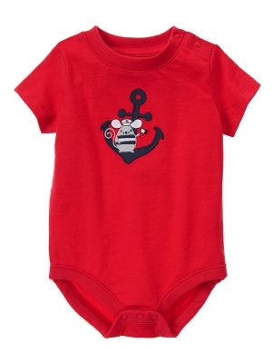Gymboree Bodysuit Sailor Mouse - Red