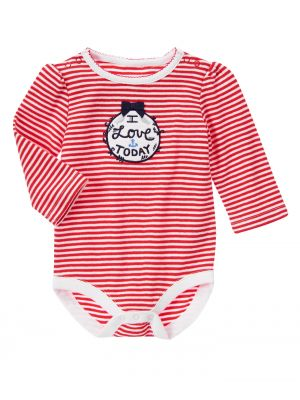 Gymboree Striped Long Sleeves Bodysuit - Red