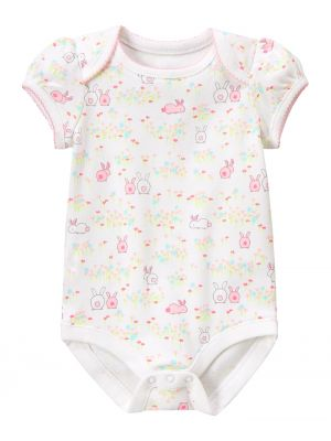 Gymboree Bodysuit Bunnies - White