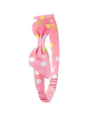 Polkadot Bow Headband - Pink