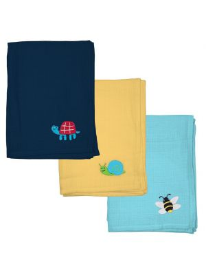 Green Sprouts 3-pk. Embroidered Muslin - Boy