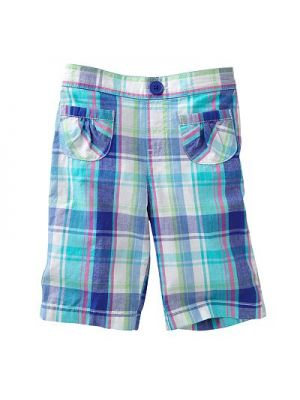 Jumping Beans Capris - Turquoise Plaid
