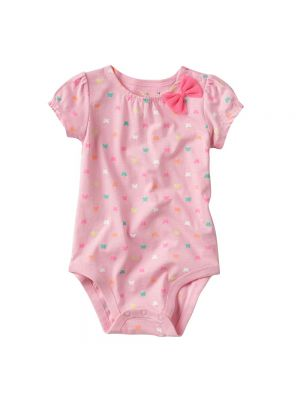 Jumping Beans Bow Bodysuit - Pink Butterfly