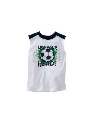 White Head Muscle Tee
