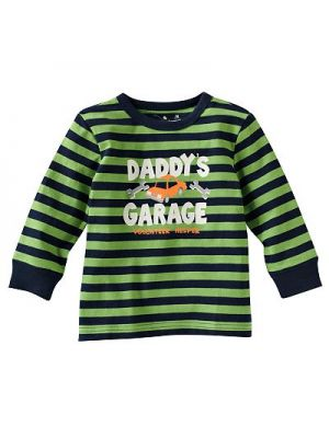 Striped Tee - Daddy's Garage Helper