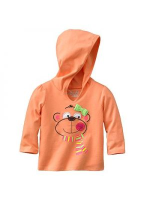 Orange Hooded Shirt - Bear