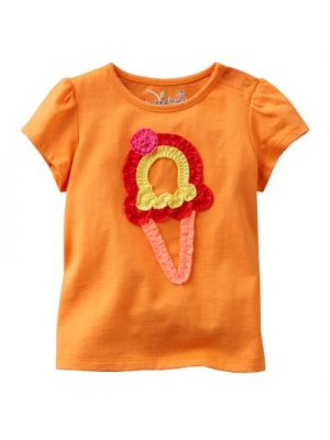 Jumping Beans Orange Tee - Ruched Ice Cream