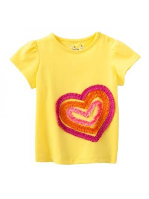 Jumping Beans Yellow Tee - Ruched Heart