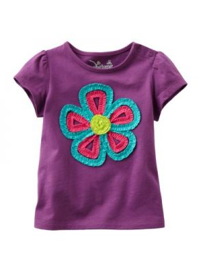 Jumping Beans Purple Tee - Ruched Floral