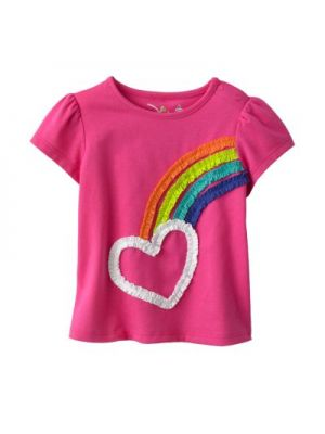 Jumping Beans Fuchsia Tee - Ruched Rainbow