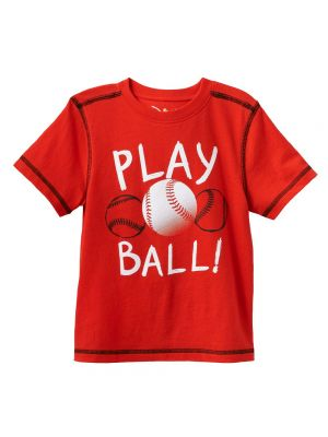 Jumping Beans Contrast-Stitch Sports Tee - Red Play