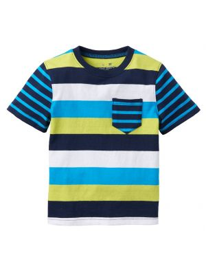Jumping Beans Mixed Stripe Tee - Blue Multi