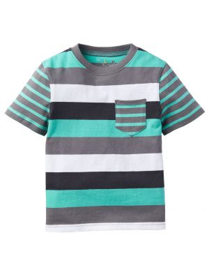 Jumping Beans Mixed Stripe Tee - Mint Multi