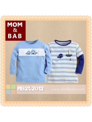 Mom And Bab Top 2pk - Whale