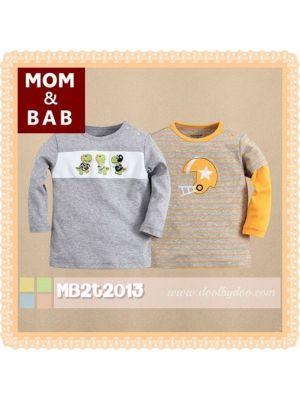 Mom And Bab Top 2pk - Dino
